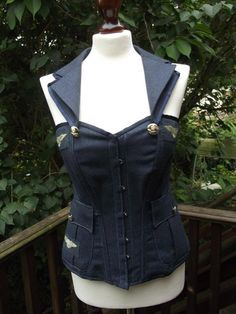 MADE TO ORDER Royal Airforce Corset by LyndseyBoutique on Etsy, £240.00