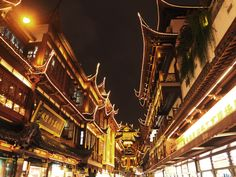 in the centre of modern shanghai is the old core of the city where the famous yuyuan garden and huxinting tea house proudly stand. Old City, Shanghai, Old Things, Modern, Travel, Trendy Tree, Viajes, Old Town, Destinations