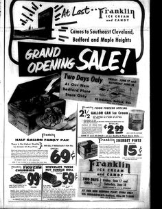 Franklin Ice cream ad 6/15/1955