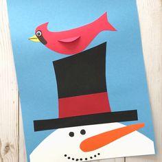 Winter crafts preschool - Winter Snowman Craft Snowman And Cardinal Craft – Winter crafts preschool Christmas Art For Kids, Preschool Christmas Crafts, Preschool Crafts, Christmas Cards, Winter Activities For Kids, Winter Crafts For Kids, Preschool Winter, Winter Thema, Snow Crafts