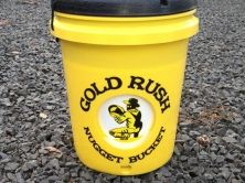 And up front close look at the Gold Rush Nugget Bucket. Easy to use and extremely efficient, beneficial for gold panning and river prospecting!