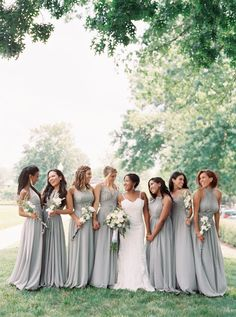 Photography : Kim Stockwell | Bridesmaid Dresses : Azazie | Wedding Dress…