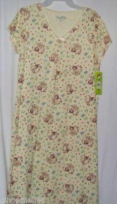 Betty Boop Yellow Gown Sleep Tee Pajama Junior Size Medium New
