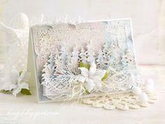 Witajcie :) Miłośnikom mroźnych kartek świątecznych polecam pastelowe strony najnowszych kolekcji...