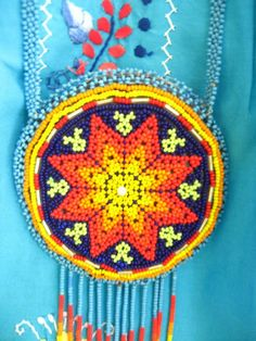 Huichol Mexican ethnic necklace