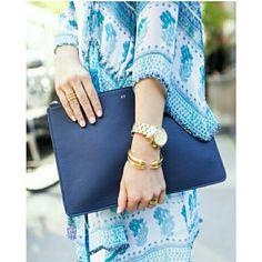 Beautiful blue clutch.