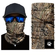 Camouflage Mask Bandana Balaclava Hunting Fishing Outdoor Military Breathing NEW UK Camping Survival, Bass Fishing, Camouflage Bandana, Fish Mask, Jungle Tree, Skull Face Mask, Balaclava, Models, Neck Scarves