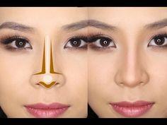 Contour Brush, Contour Makeup, Skin Makeup, Makeup Lipstick, Big Nose Makeup, Highlighting Contouring, Corrective Makeup, Flawless Makeup, Cheap Makeup