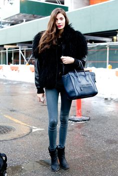 I want to find a big puffy coat like this so badly.