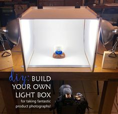 DIY: Build your own light box for taking fantastic product photographs using some surprise materials. Upcycle, Recycle, and Reuse is the name of the game! Light Photography, Digital Photography, Photography Tips, Photography Tutorials, Street Photography, Landscape Photography, Portrait Photography, Fashion Photography, Photo Light Box