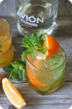 orange mint tequila cocktail party getr nke einfache cocktails und essen trinken. Black Bedroom Furniture Sets. Home Design Ideas
