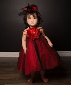Take a look at this Red & Black Tutu Dress & Hat Clip - Infant, Toddler & Girls by Bébé Oh La La on #zulily today!