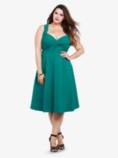 This isn't a color I'd normally wear. I'd have to see it in person, but I love the style. | Retro Chic - Swing Dress
