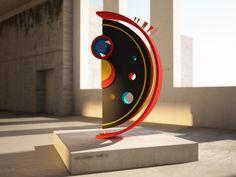 KANDINSKY TYPE created by Sinan Buyukbas- 3 dimension typography