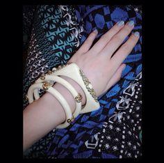 Vintage bracelets n my blue nails. Bracelet from #SYM Nails from #Dior