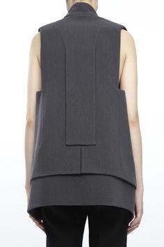 Unisex Tailoring - layered vest, pattern cutting, contemporary fashion // Rad Hourani