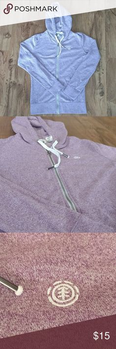 Element Purple Full Zip Hoodie, EUC Speckled Hoodie. 55% Cotton, 45% Polyester EUC, Size medium. No stains, holes or fading. True to size! element Tops Sweatshirts & Hoodies