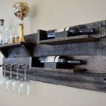 Pallet Wood Horizontal Wine Shelf Espresso Walnut by VinoGrotto Diy Wine, Shelves, House Interior, Woodworking, Wood, Wood Pallets, Wine Shelves, Wine Rack, Storage