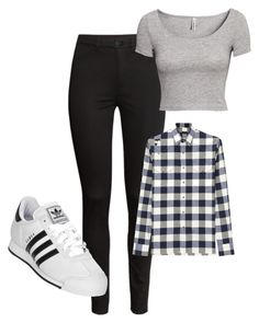 """""""My six flags outfit"""" by madison-beer ❤ liked on Polyvore featuring H&M, Lanvin and adidas"""