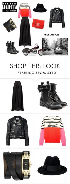 """""""Rock the vote"""" by flowerdreamer ❤ liked on Polyvore featuring Lanvin, RED Valentino, Yves Saint Laurent, Chinti and Parker, Givenchy, Gucci, Alexander McQueen and Harley-Davidson"""