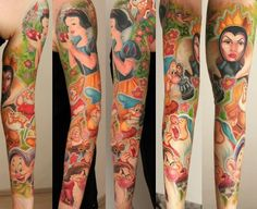 Disney Cartoon Tattoos