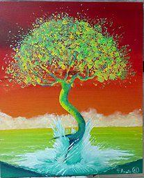 """Obra """" A Natureza Emergiu"""" de Patrícia Amato - 60x50cm"""
