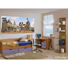 Disney Toy Story Kids Wall Mural - Bedroom Wall Decal - Kids Room Decals - Wall Decal Art - Disney M Kids Wall Murals, Kids Room Wall Decals, Murals For Kids, Wall Decals For Bedroom, Toy Story, Winnie The Pooh, Disney Toys, Stories For Kids, Furniture