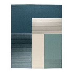 ROSKILDE Tappeto, tessitura piatta, interno/esterno verde-blu - IKEA