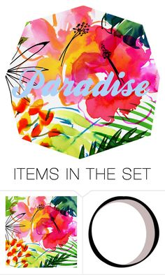"""""""paradise"""" by maddie2k15 ❤ liked on Polyvore featuring art, tropicalprints and hottropics"""