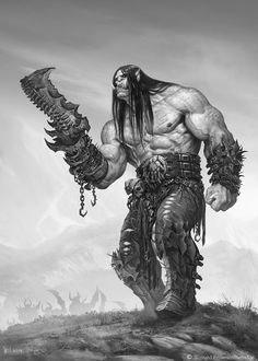 ArtStation - The Art of Warcraft Film - Kargath Bladefist, Wei Wang