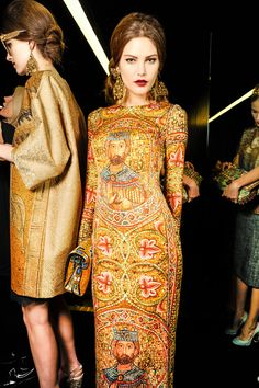 Backstage at Dolce & Gabbana Fall/Winter 2013-2014