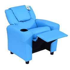 Homcom Kids Children Recliner Lounger Armchair Games Chair Sofa Seat PU Leather Look w/ Cup Holder