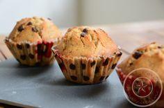 Muffins à la noisette et aux pépites de chocolat - Cupcakes, Cupcake Cakes, Vegan Recipes, Cooking Recipes, Mini Cakes, Flan, Cooking Time, Deserts, Brunch