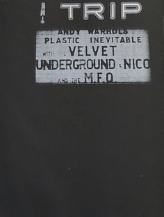 "zombiesenelghetto: "" The Velvet Underground and Nico, billboard from Andy Warhol's Index Book, 1967 "" Rock N Roll Music, Rock And Roll, Deva Premal, Take My Breath, Band Photos, Jazz Music, Inevitable, Andy Warhol, Music Is Life"