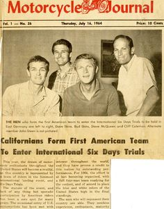 Steve McQueen article on the International Six Days Trial
