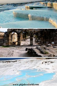 #pamukkale Thermal Pools a Dream come true. A Day Trip from Marmaris Turkey! Breathtaking views and Great for your Skin #visitturkey #dreamyturkey Learn more on the blog http://www.pkjulesworld.com/dreamy-turkey-9-things-to-do-in-marmaris/