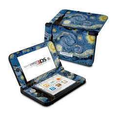 Nintendo XL Skin - Starry Night by Vincent van Gogh Ds Games, Xbox One Games, Nintendo 3ds Case, Nintendo Switch, Wii, Cry Anime, Anime Art, Playstation, Gamers Anime