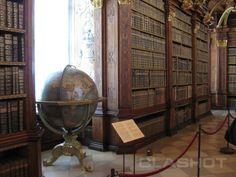 #Library #books #Globe #Vienna #Austria - Stock Photo