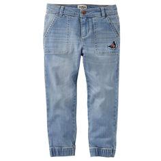 Girls 4-12 OshKosh B'gosh® Butterfly Denim Jogger Pants, Size: 12, Blue Other