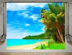 Amazon.com : SUSU Sea Photographic Backgrounds Beach Surf Sun Photography 7x5ft Blue Sky Suuny Backdrop Cotton Material without Wrinkles : Camera & Photo