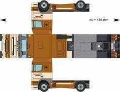 Free Download Paper Model Trucks | Trailer-MartinezDiaz