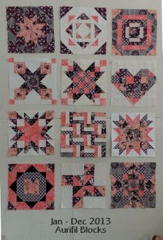 "Can you believe it is the final month for the #Aurifil Designer Block of the Month for 2013? This last month's designer is Pat Sloan ! Pat is interviewed by followers of her blog and this is a real tell all interview that you do not want to miss! Pat's block is ""Good Vibrations"" very fitting for her indeed. To read more about Patricia A Sloan and the link to the free pattern please visit http://auribuzz.wordpress.com/2013/12/05/december-designer-of-the-month-pat-sloan/#more-3850"