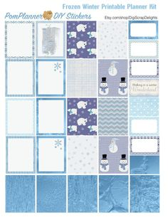 Frozen Printable Planner Kit 5 PDFs, Over 300 Stickers EC or Happy Planner…