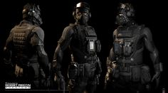 Ghost Recon Phantom /Far Cry4 Pack -All 3 Classes My Involvement in the Pack.  All Character Class Headgear modifications - Mohamed Hussain Khan/Khansevenframes Ghost Recon, Ghost Armor, Tactical Suit, Sci Fi Armor, Tactical Equipment, Military Gear, Military Action Figures, Future Soldier, Fantasy Armor