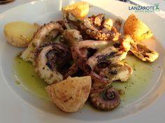 Fresh octopus in Canarian green sauce