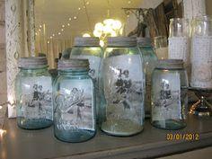 ball jar photo display