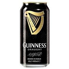 Cerveja Guinness Draught, estilo Dry Stout, produzida por St. James's Gate, Irlanda. 4.1% ABV de álcool.