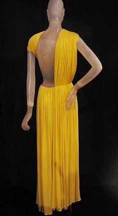 Evening Dress Back c.a 1967, Medium: silk