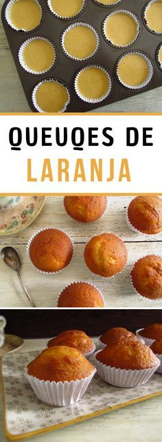 Want to make a quick and simple snack for your friends or for your family? Prepare these delicious orange muffins, they are fluffy, have excellent presentation and are perfect to serve with coffee or hot tea! Sweet Recipes, Real Food Recipes, Baking Recipes, Cake Recipes, Greek Yogurt Muffins, Simple Muffin Recipe, Feel Good Food, Candy Cakes, Cupcakes