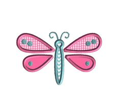 Little Dragonfly Machine Embroidery Applique Design-INSTANT DOWNLOAD